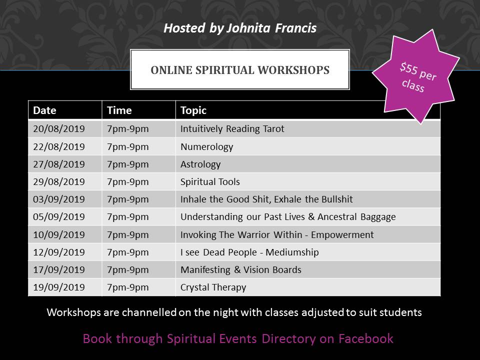 Online Spiritual Workshops
