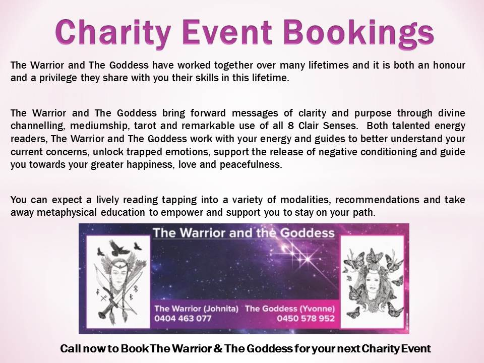 The Warrior and The Goddess Advertising Charity