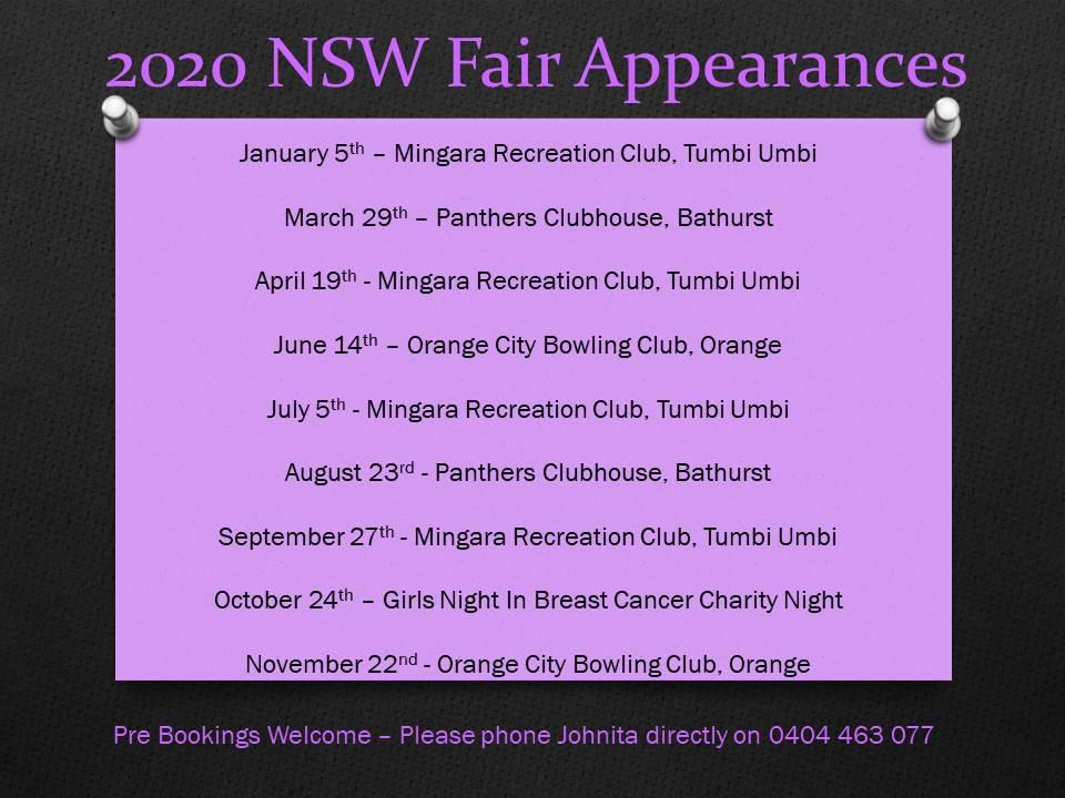 2020 NSW Fair Appearances