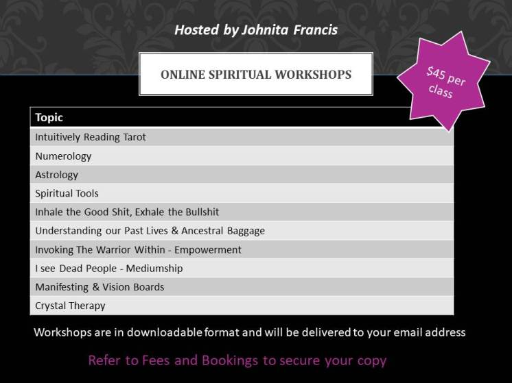 Recorded Spiritual Workshops